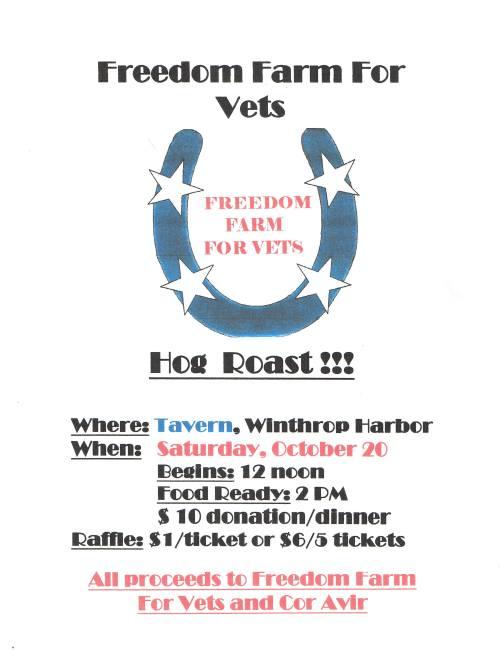 Freedom Farm for Vets 2012 Hog Roast Fundraiser