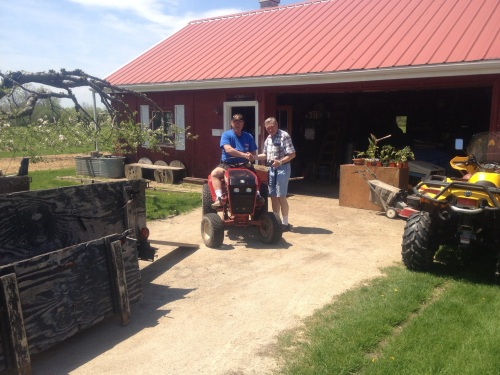 Tractor back at the farm