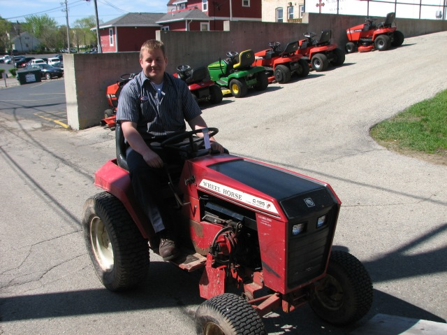 Jim on reconditioned tractor